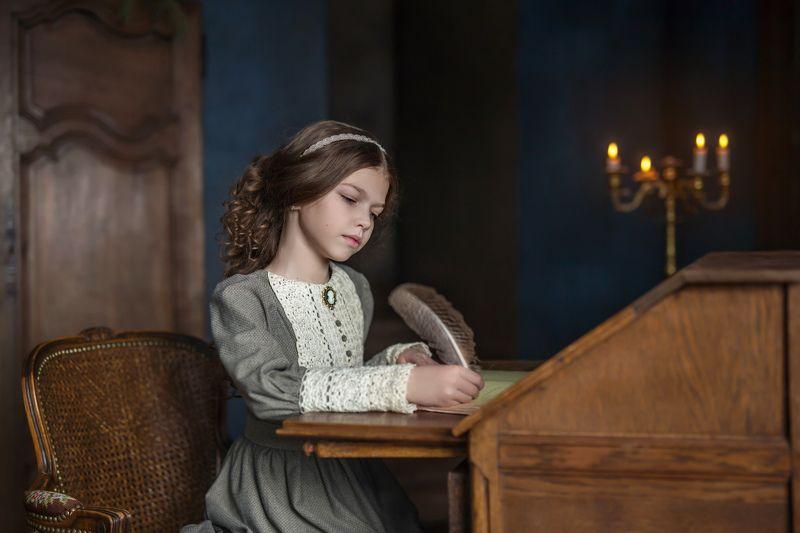 винтаж, ретро, портрет, детский портрет, 85mm, перо Барышня-крестьянкаphoto preview