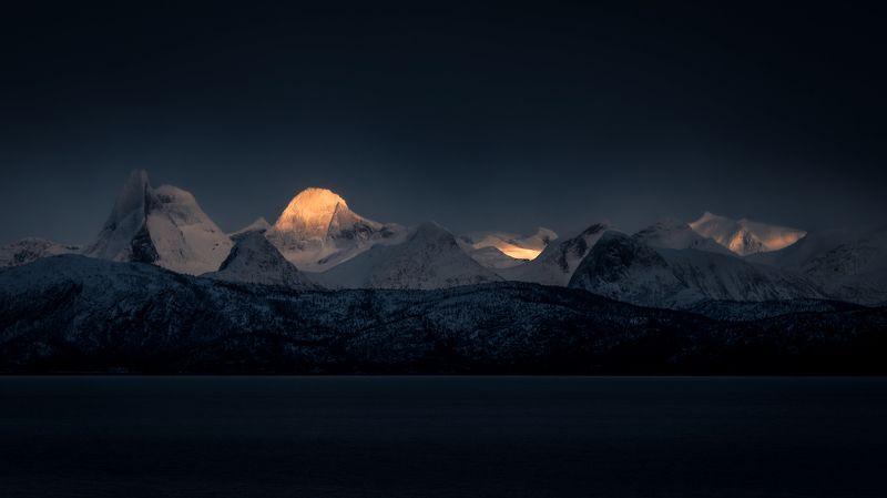 norway,landscape,light,night,winter Lofotenphoto preview