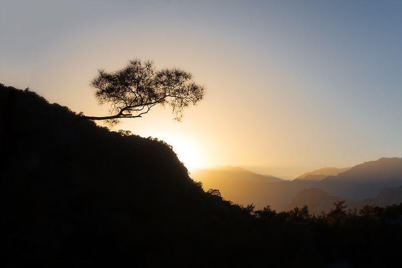 турция, закат, горы, sunset Закат на горе Tunektepe, Анталияphoto preview