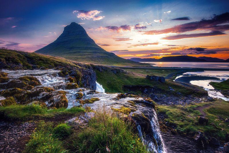 исландия,iceland утро у горы Шляпаphoto preview