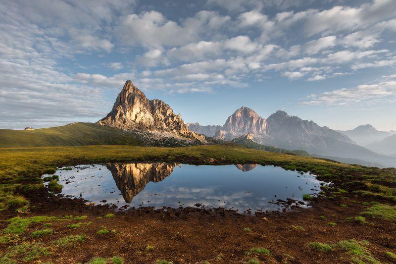 италия, доломиты, горы, облака, восход, осень, природа, landscape, italy, dolomites, sunrise Доломиты.photo preview