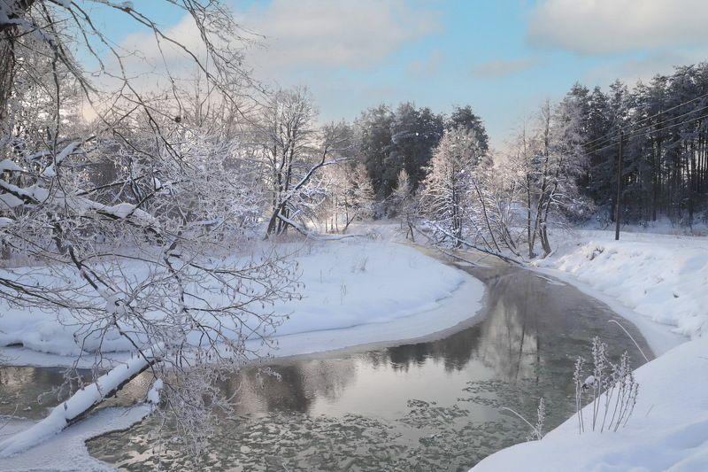 утро река Зимойphoto preview