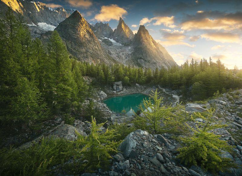 #landscape #mountains #alps #italy #sunset #sunrise #france Emerald Treasure фото превью