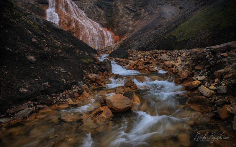 raudufossar, red falls, iceland Raudufossar / Красный Водопадphoto preview