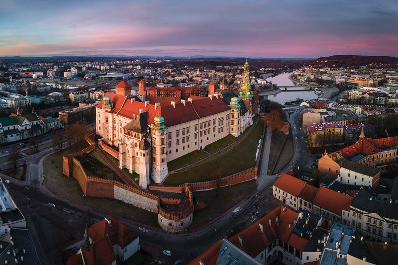 poland, kraków, cracow, sunrise, castle Wawel castlephoto preview