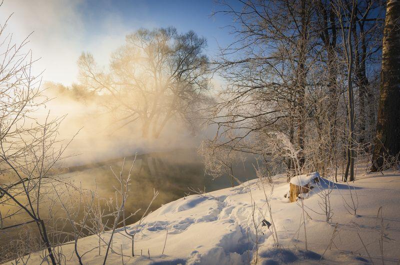 туман, московская область, утро, природа, пейзаж, зима, мороз, солнце Мороз и солнце...photo preview