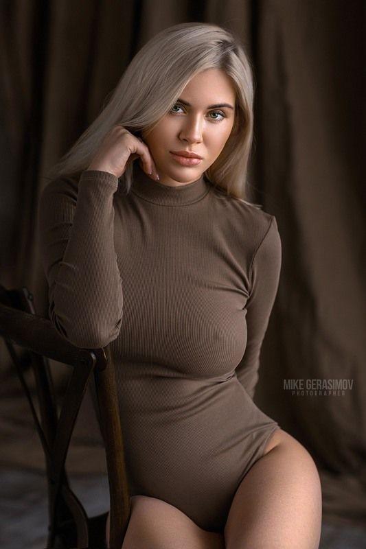 портрет девушка взгляд portrait белье красиво Лиляphoto preview