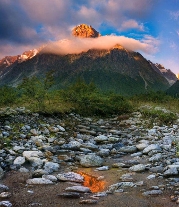 горы,тихтинген,кбр,рассвет,природа,пейзаж Про Тихтинген и осколок утра на землеphoto preview