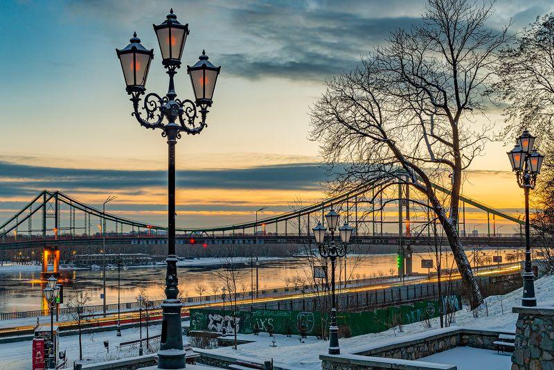 киев, расвет, небо, тучи, фонари Фонари ...photo preview