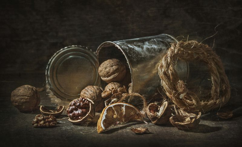 грецкие орехи,банка,тёплый,текстура,тёмный,деревенский,сухие,верёвка,фактуры Всё на столе...photo preview