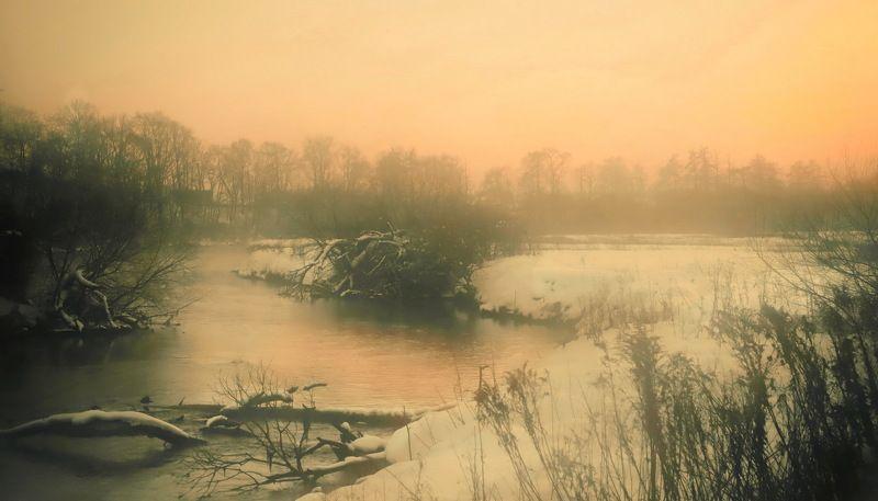 вечер, река, закат Вечером на рекеphoto preview
