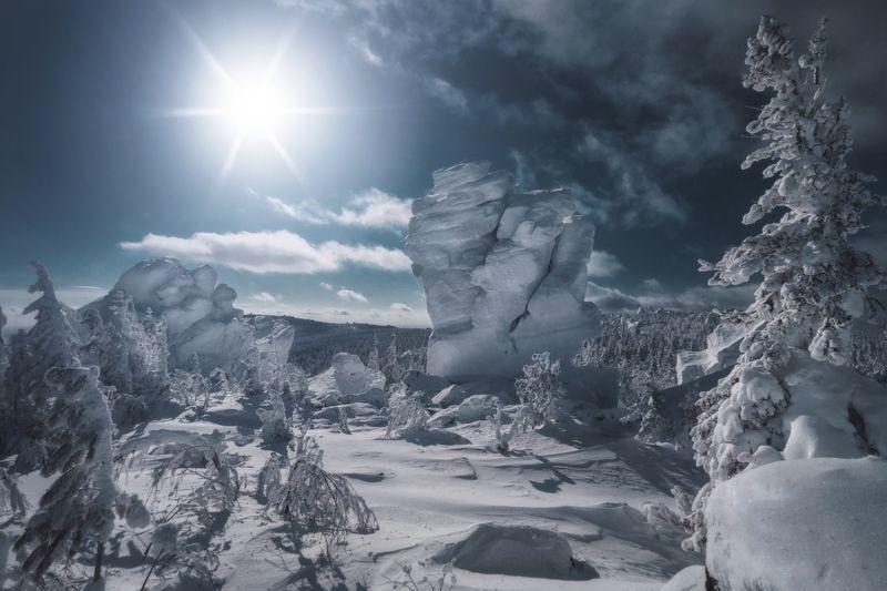 озеро, горы, лес, природа, закат, рассвет, красота, приключения, путешествие Каменный дракон Качканараphoto preview