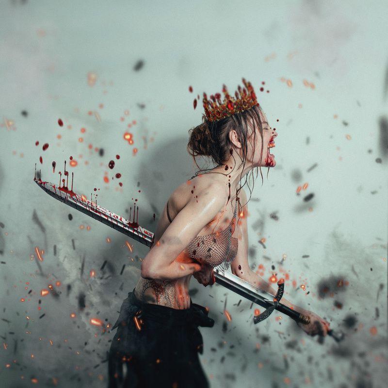 the, queen\\\'s, sacrifice, жертва, королевы, меч, кровь .Жертва Королевы.photo preview