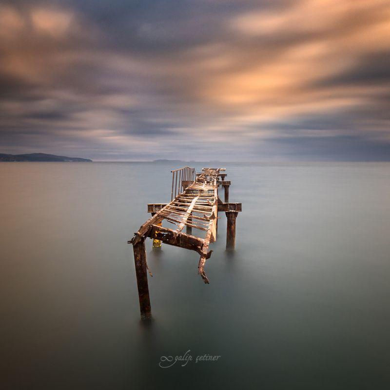 landscape, seascape, winter, nature, sea, pier, cloud, long exposure The lonelyphoto preview