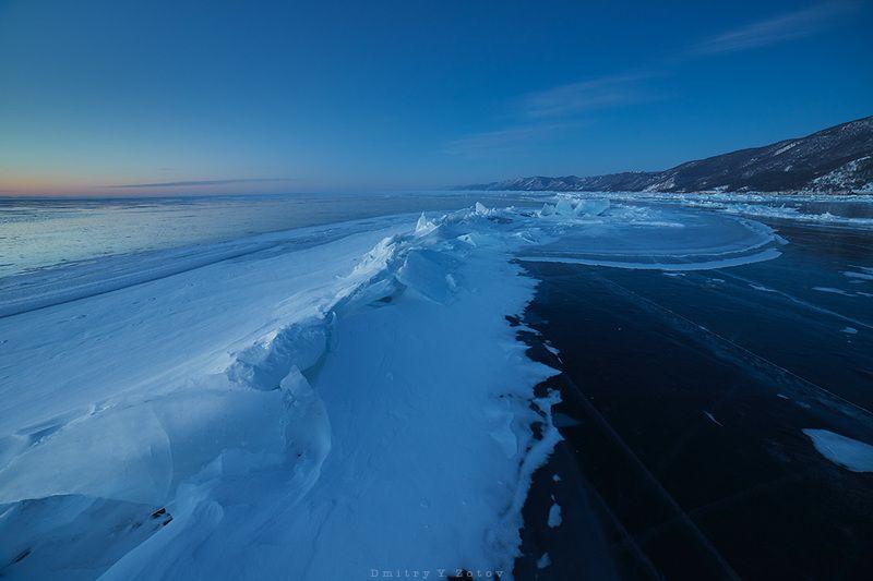 байкал, пейзаж, рассвет, зима, сибирь, лёд Байкал, рассвет в Бугульдейке.photo preview