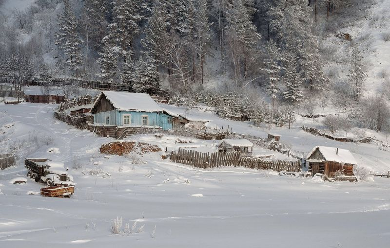 Сибирь, кордон, Зима, быт. Сибирская зима.photo preview