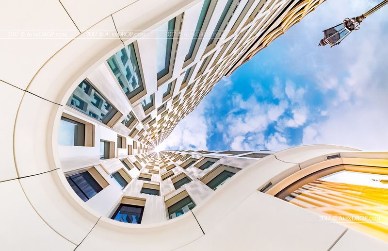 canon, high key, postcard, picturesque, landmark, europe, berlin, germany, travel, urban, architecture, iconic, geometry, abstract, fine art Upper-West Tower geometry high-keyphoto preview