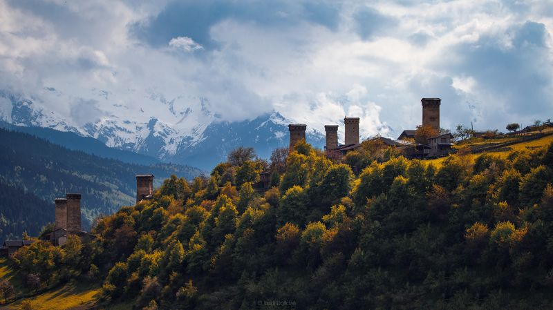 svaneti, landscape, mountain, castles, castle, outdoor, photography, love, photographer Svanetian Castlesphoto preview