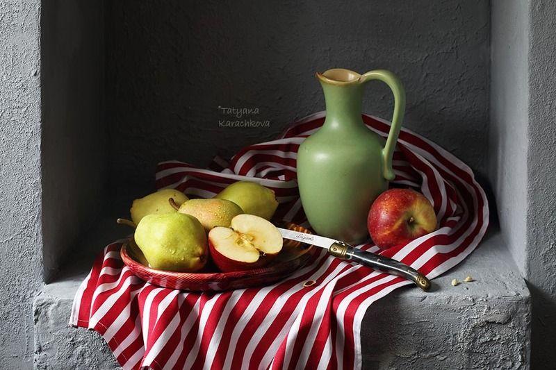 натюрморт,  кувшин, груши, яблоки, ниша Яблоки и грушиphoto preview