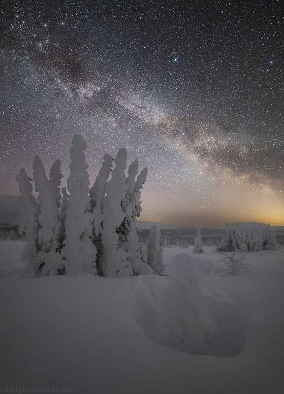 гух, урал, зима, россия, горы, снег, василийяковлев, яковлевфототур Зимняя ночь на Северном Уралеphoto preview