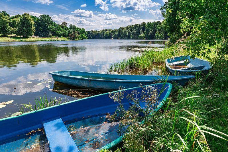 canon, landscape, color, postcard, picturesque, russia, park, water, lake, nature, summer, foliage Тише! Не распугайте дикие лодки!photo preview