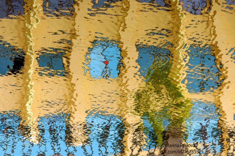 город, петербург, абстракция, акваабстракция, акваграфика, отражение на воде,парейдолия,nikon Поцелуйphoto preview