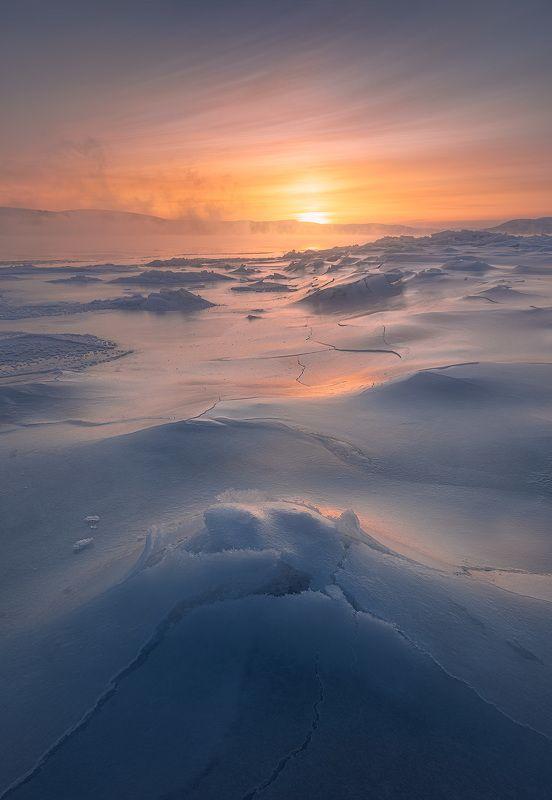 пейзаж, север, кольский, лед, зима, река Туломские льдыphoto preview
