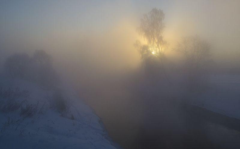 зима, утро, истра В час утренней зариphoto preview