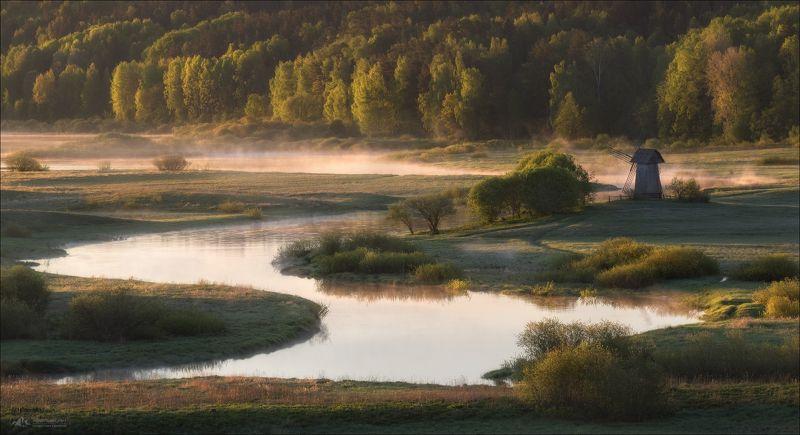 пушкинские горы, пушкиногорье, река сороть, савкина горка, село михайловское, Майским утром на Сороти ..photo preview