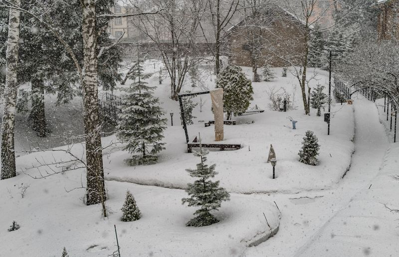 Думали весна пришла - фигушки... Москва, сейчас.photo preview