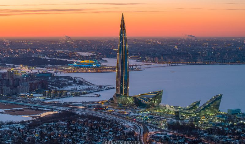 россия, петербург, весна, рассвет, санкт-петербург, город, квадрокоптер, дрон И опять она фото превью