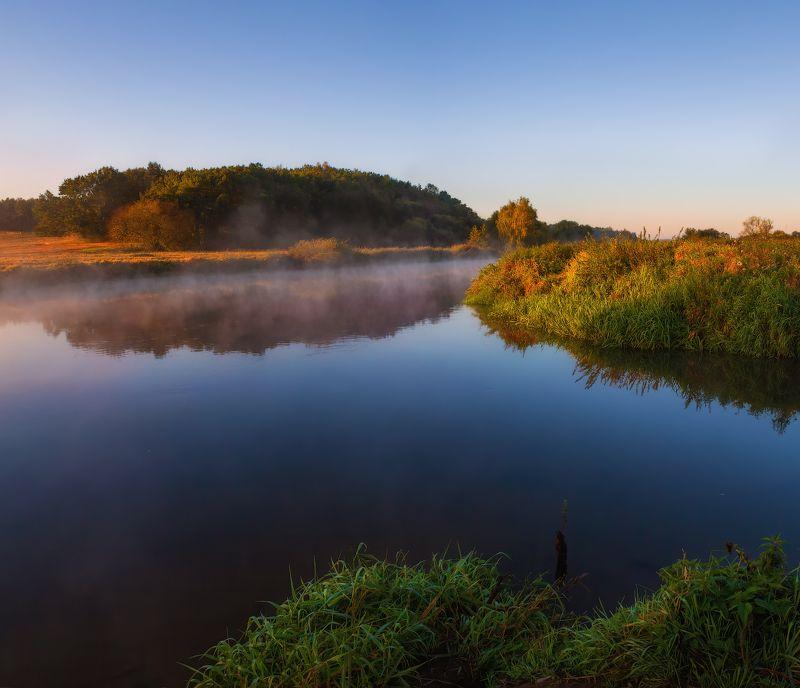 рассвет, река, дымка, Утроphoto preview