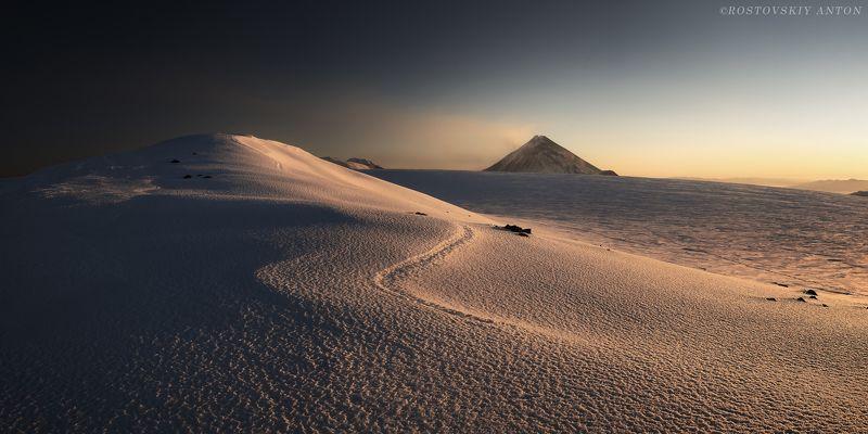 Камчатка, фототур, рассвет, снег, фотопутешествие, вулканы, Толбачик, Ключевская. Фототур на Камчатку.photo preview