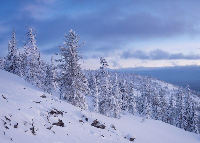 ...Вечер на снежной горе Аргыджек....photo preview