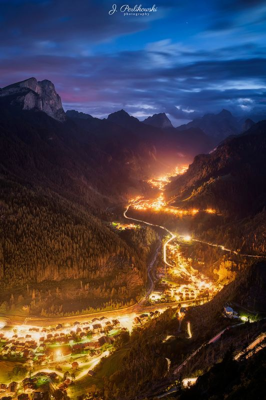 dolomites, alps, mountains, travel, night, long exposure, Golden riverphoto preview