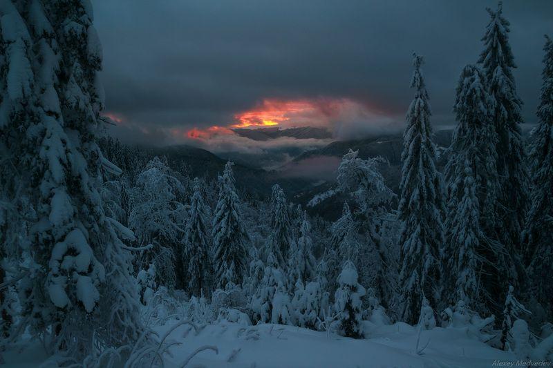 горы, гори, закарпаття, зима, карпати, свидовець, лопухів, лопухов, свидовец, карпаты, закарпатье, свет, закат, солнце, яркий Застыв на мгновениеphoto preview