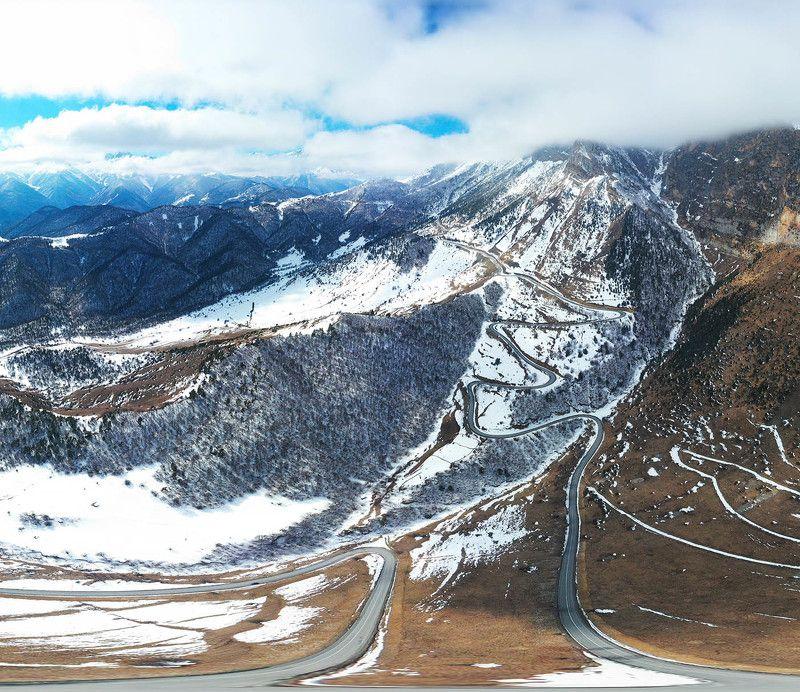 Россия, Ингушетия, Кавказ, Цей-Лоам, перевал, #rtgtv Дорога на перевал Цей-Лоамphoto preview