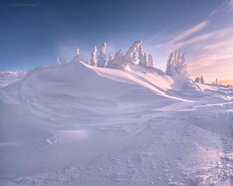 зима, урал, север, снег, ветер, сугроб, гух, главный уральский хребет Снежная поэзия ветраphoto preview