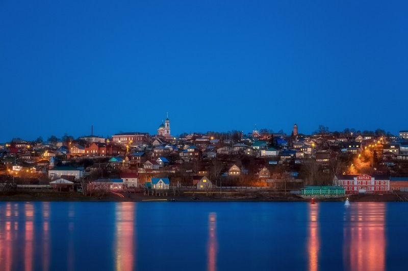 Бирск, майский вечер над рекойphoto preview