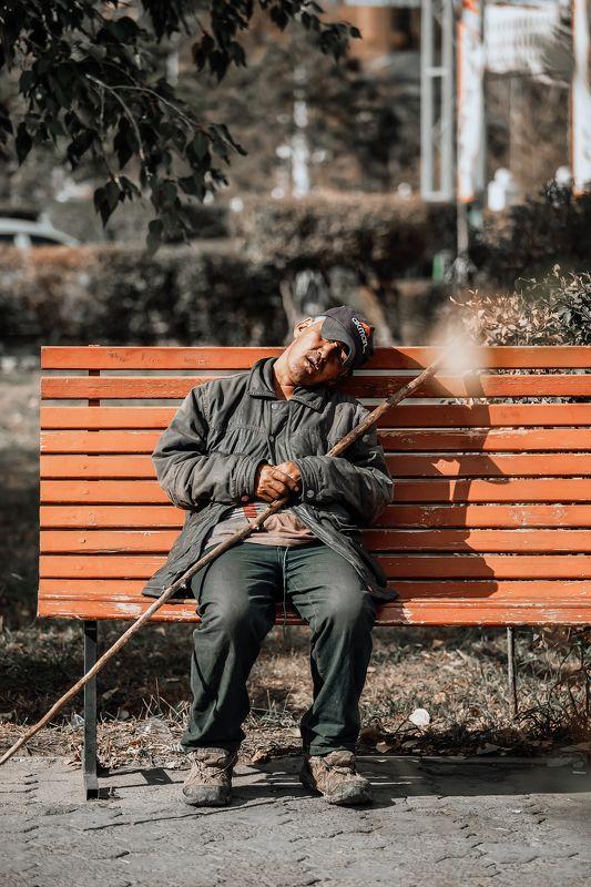 sleeping man photo preview