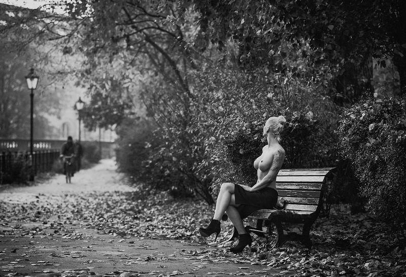 Осень, набережная, скамеечка...photo preview