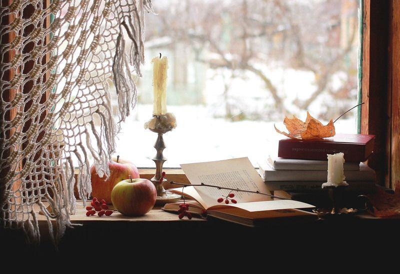 натюрморт, фотонатюрморт, осень, ноябрь, книга, свеча, наталья казанцева Ноябрь Первые морозы...photo preview