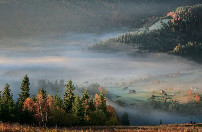Утренние туманы фото превью