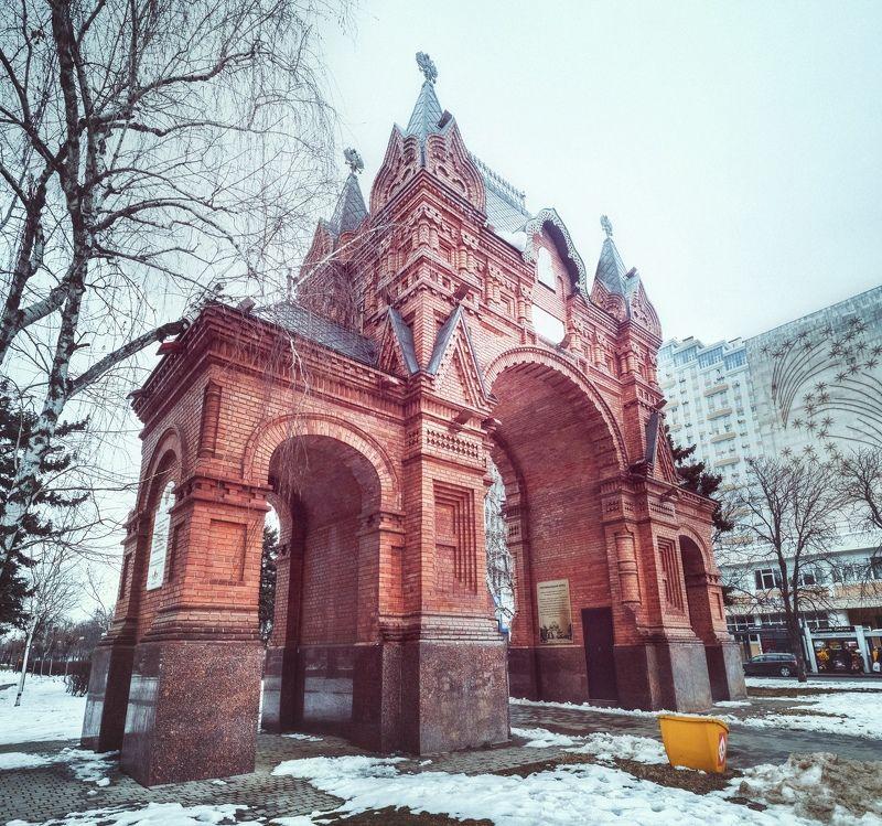 зима, город, архитектура, триумфальная арка, александровская арка, краснодар, анатолий щербак Александровская триумфальная арка.photo preview
