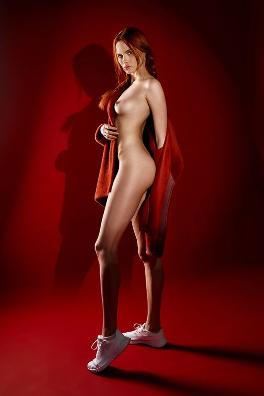 girl, body, red, nu, nude, sexy, redhead, vertical photo preview