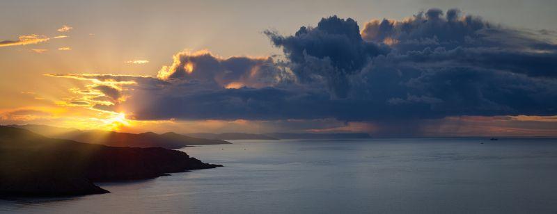 териберка, губа орловская, баренцево море, кольский, северный ледовитый океан Вечер северного моряphoto preview