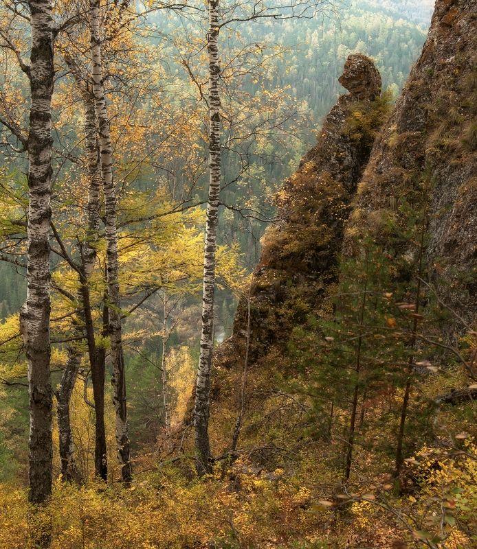 осень, торгашинский хребет, иглы. Говорящие камни.photo preview