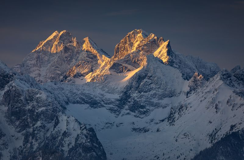 mountains, winter, poland, slovakia, sunrise Morning in the Mountainsphoto preview