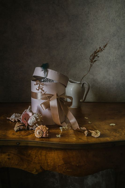 натюрморт, коробка, фарфор, ракушки Коробка и ракушкиphoto preview