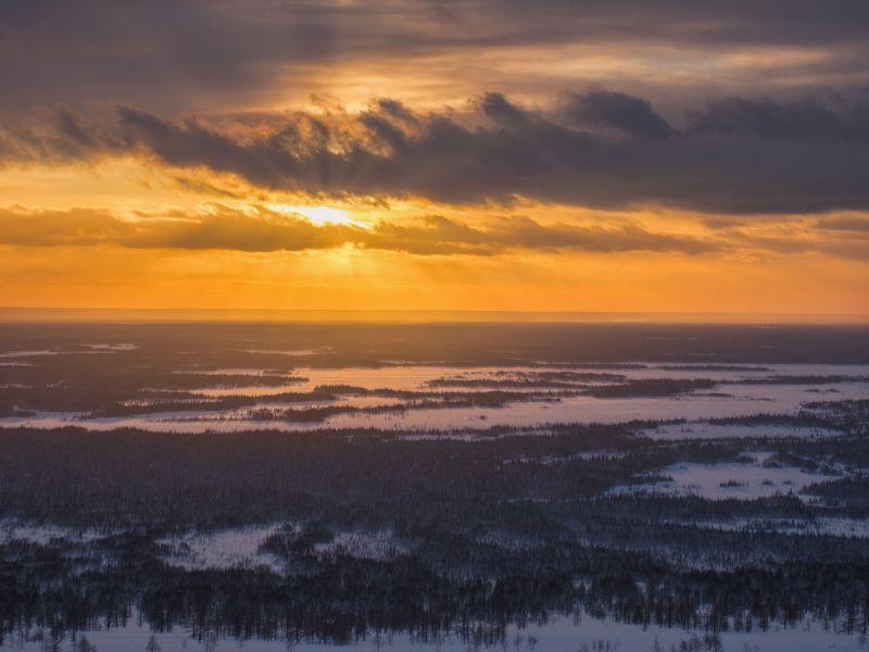 печора,коми,закат Закат над тайгойphoto preview